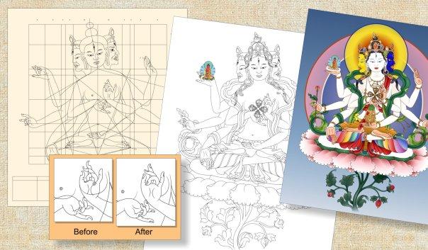 Drawing Process Namgyalma