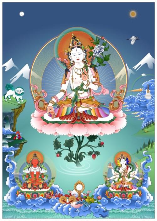 Long Life Deities White Tara Amitayus Namgyalma