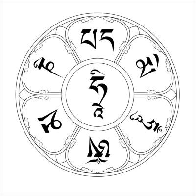 Om Mani Padme Hum Mantra Garland