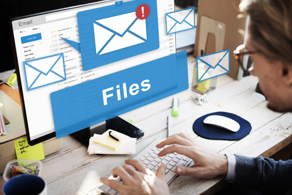 How to email a document   Digital Unite File and email alerts on a screen