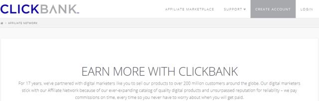 Top 9 Affiliate Program in 2019: ClickBank