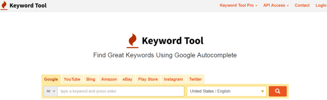 Blogging tools- Keywordtool.io