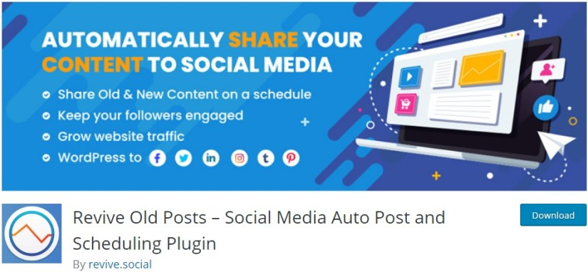 Revive Old Posts: Best Social Media Auto Post and Scheduling WordPress Plugin