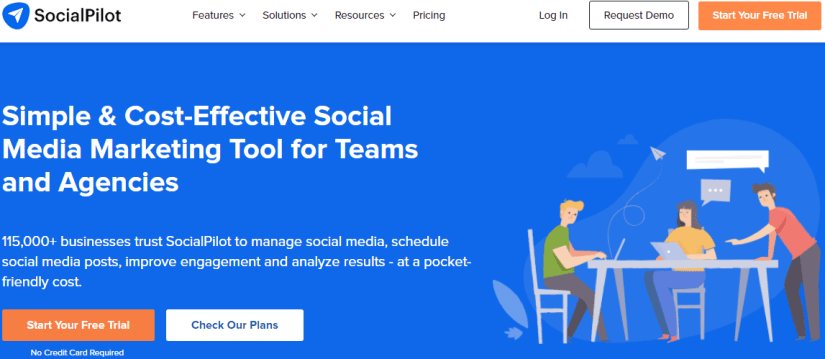 SocialPilot: Simple & Cost-Effective Social Media Marketing Tool for Teams and Agencies