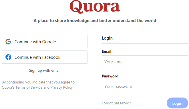 Quora: A Place to Share Knowledge and Better Understand the World