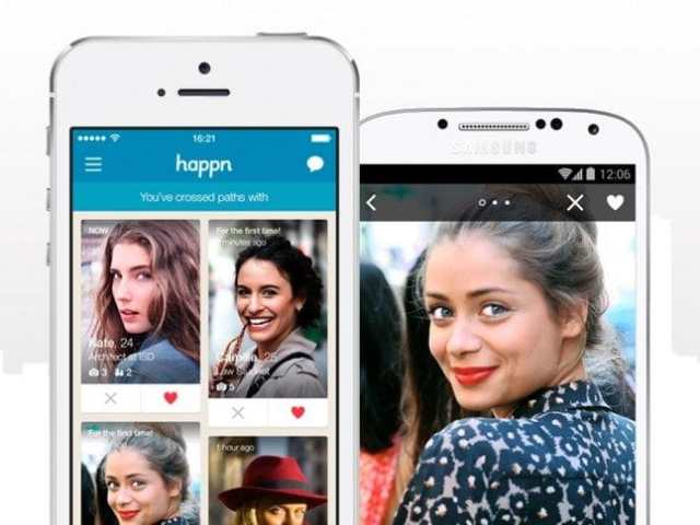 Dating app based on crossing paths