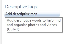 Photo Gallery descriptive tags