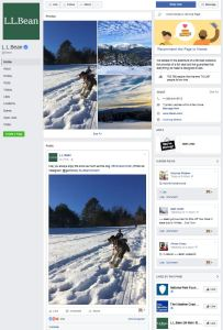L.L.Bean Facebooki leht
