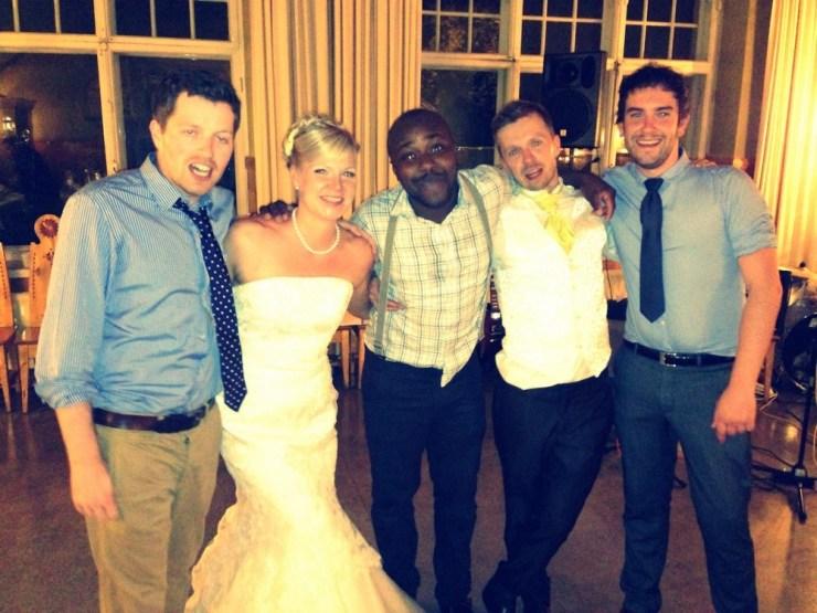 Steven, Elisa, Segun, Pekka ja Gavin