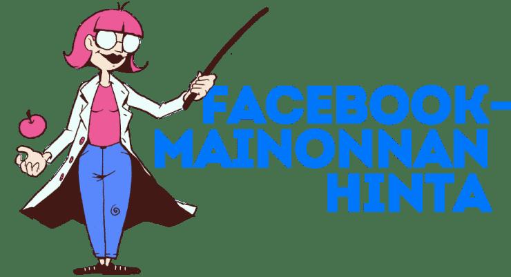 Facebook-mainonnan hinta