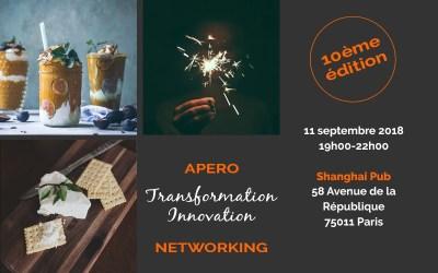 [11/09/2018] Apero Networking – Transformation Innovation (10ème édition) / thème : RGPD