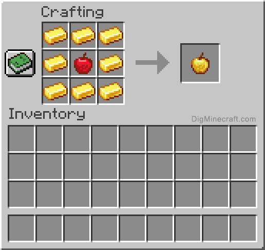 How To Make A Golden Apple In Minecraft