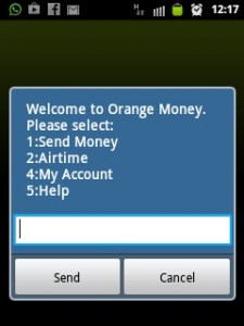 orange money menu