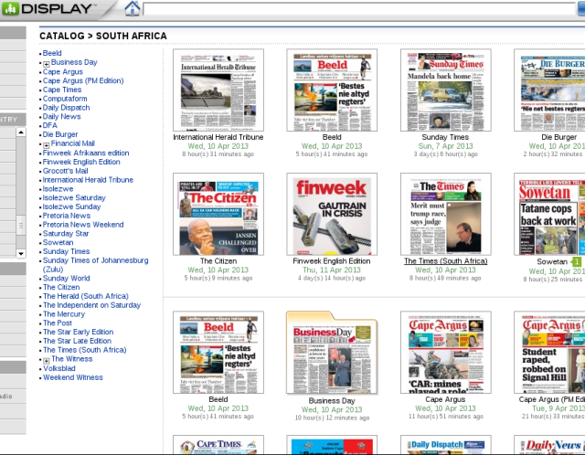 Browse Newspaper titles by country