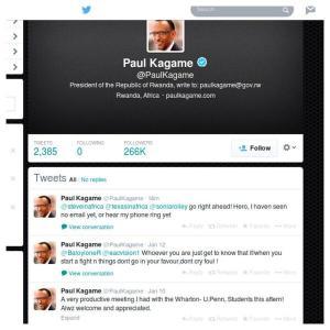 Paul kagame stray tweet