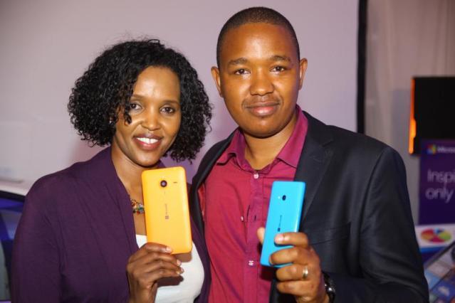 Mariam Abdulahi Microsoft Mobile GM and King'ori Gitahi Product Manager