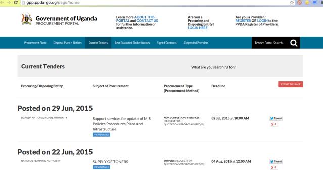 government-uganda-procurement-portal
