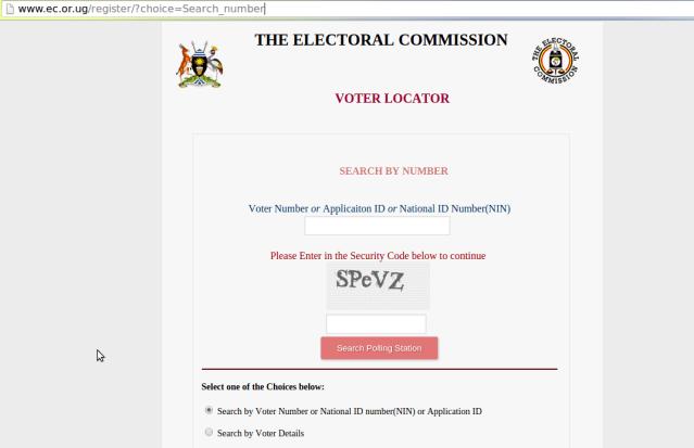 uganda voters register