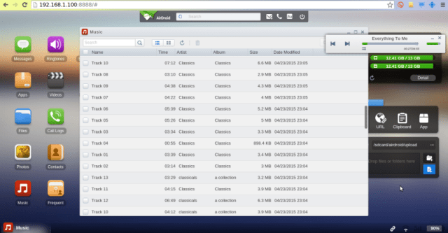 airdroid music