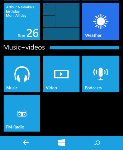 windows phone folders