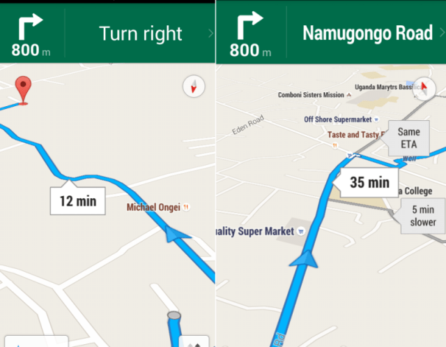 google turn by turn navigation