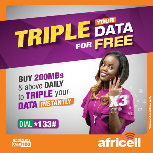 Africell Uganda Triple Data Promo