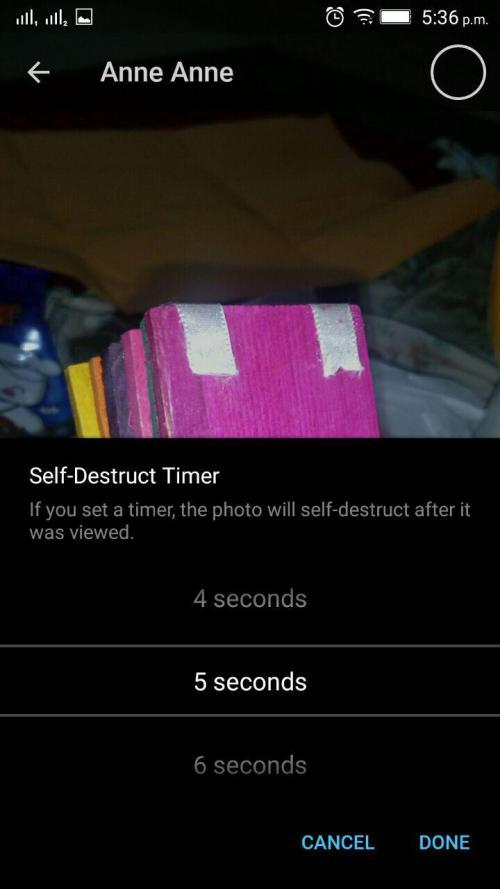 Telegram media self-destruct
