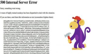 Error message after YouTube went down