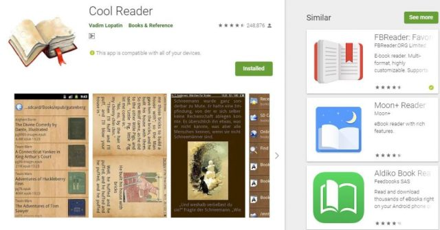 Top 5 Android eBook readers