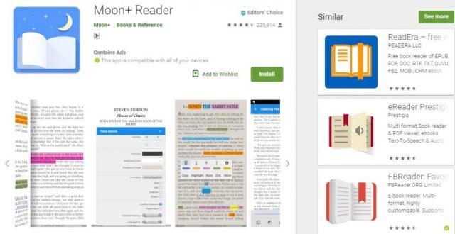 Moon+ Reader Top 5 Android eBook readers