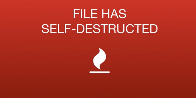 self destructing email
