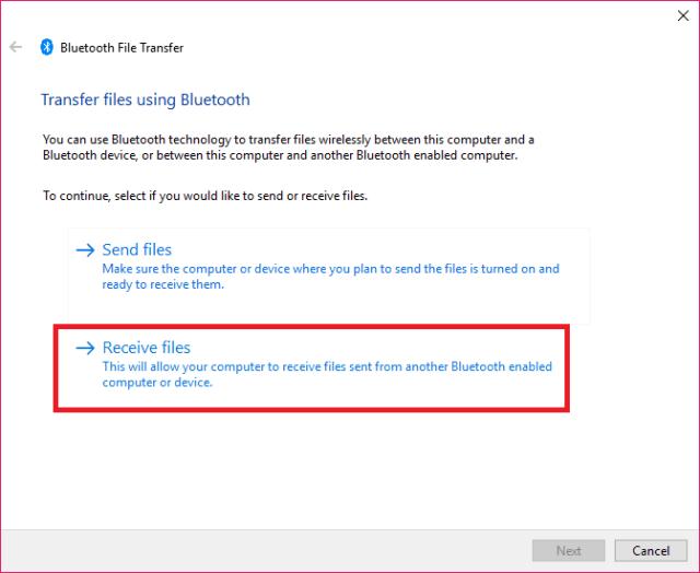 Share files via Bluetooth1