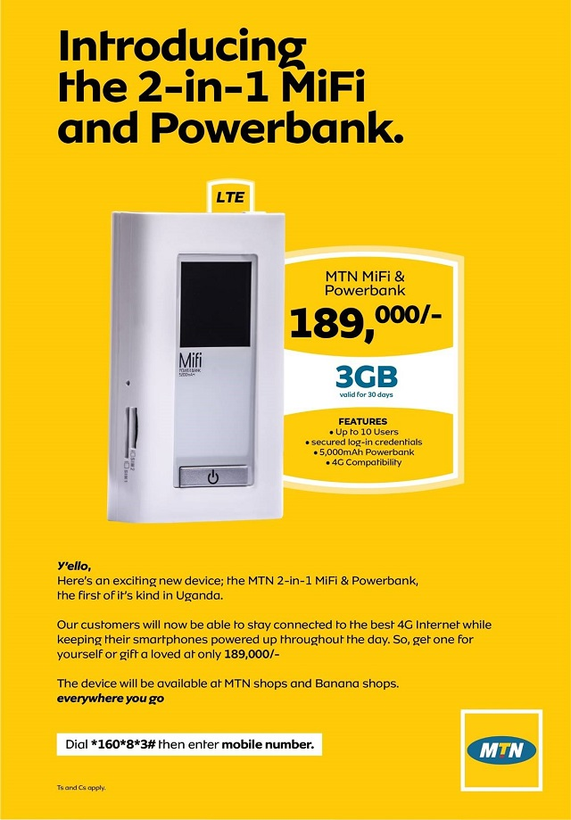 MTN Uganda launches Two in One MiFi and Power bank - Dignited