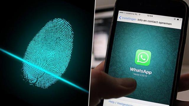 Resultado de imagen de whatsapp biometric