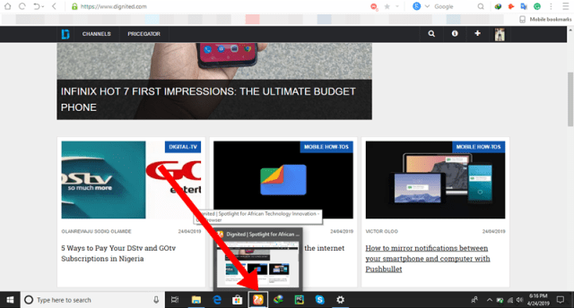How to Access the Taskbar in Full-Screen mode on Windows 10