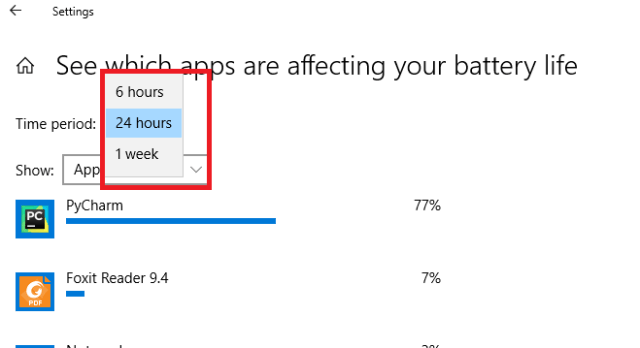 Which Apps Consume The Most Battery In Windows 10