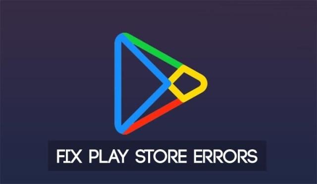 google playstore error codes