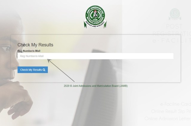 check JAMB result 2020