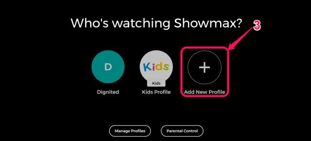 create separate Showmax profiles