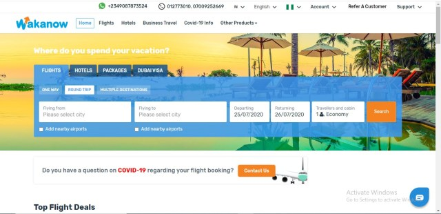 book flights online nigeria