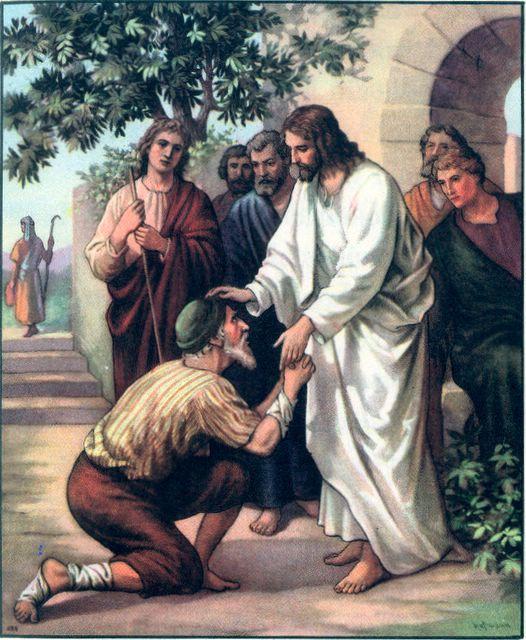 Jesus and beggar