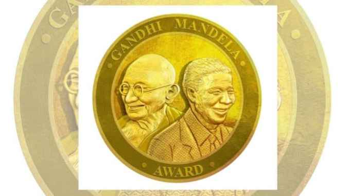 Gandhi Mandela Award 2019, an initiative to commemorate All Time World Pioneers