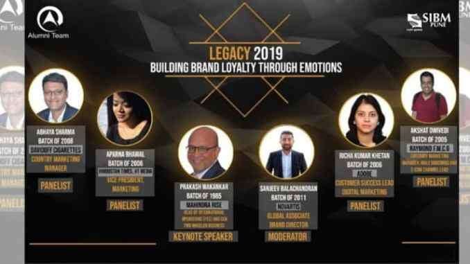 SIBM Pune's Legacy 2019 – 'Building Brand Loyalty through Emotions'
