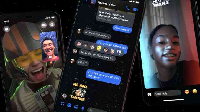 Facebook rolls out Star Wars theme for Messenger