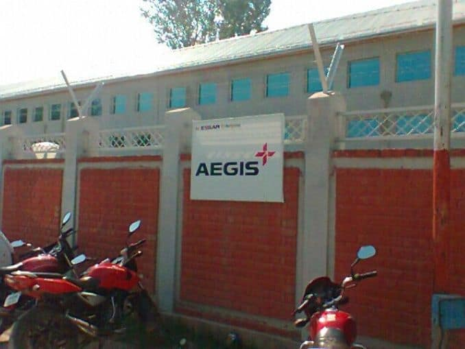 Aegis Limited winded up its operations in the Kashmir