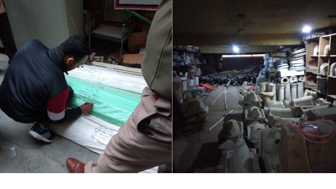 East Delhi Market raided by Mumbai Enforcement for duplicating Prince Pipes and Fitting Products - Digpu