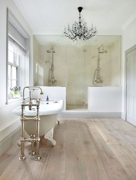 41 Cool Bathroom Floor Tiles Ideas You Should Try   DigsDigs wood inspired tiles