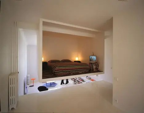 Hanging Bedroom-In-A-Box (via <a rel=