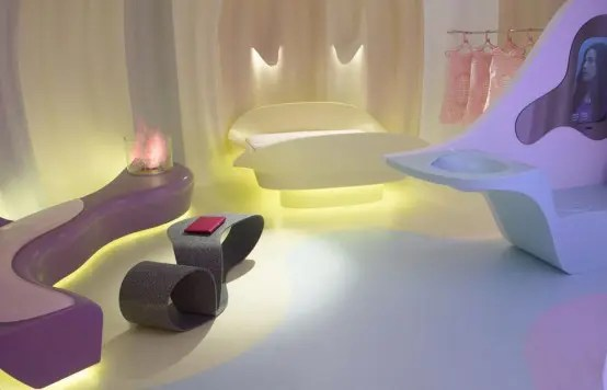 Corian Futuristic Bedroom By Karim Rashid (via <a rel=