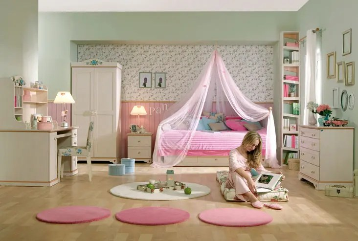 15 Cool Ideas For Pink Girls Bedrooms | DigsDigs on Girls Bedroom Ideas For Small Rooms  id=42444